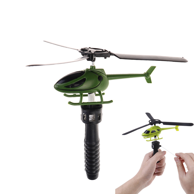 1PCS Viation Model Handle Pull The Plane Outdoor Toys For Children Baby Play Helicopter 15.5*3*6cm