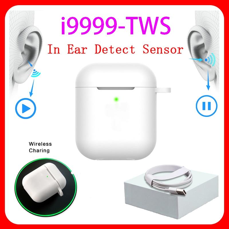 Original I9999 TWS 1:1 In-ear H1 Aire 2 Bluetooth Earphone Mini Wireless Earbud Headphone Aire2 Headset PK W1 Chip Elari Kulakli