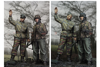 Scale Models 1/ 35  LAH In The Ardennes (2 Figures)    Figure Historical  Resin Model