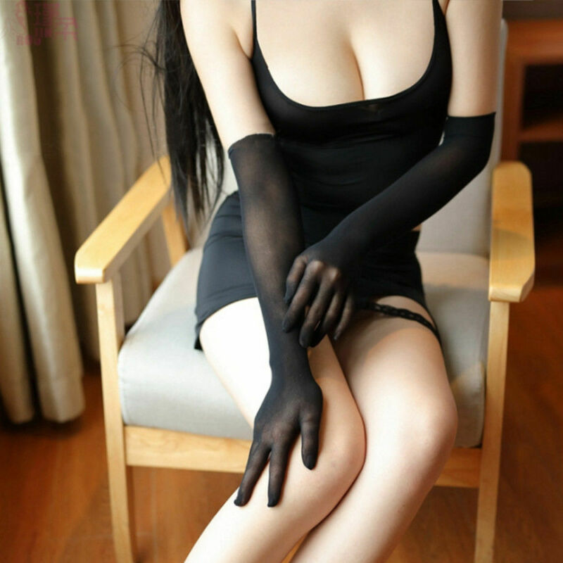 Long Gloves Smooth Sheer Seamless Black White Beige Gray Affordable Luxury Smooth Pantyhose Tights Stockings Affordable Luxury