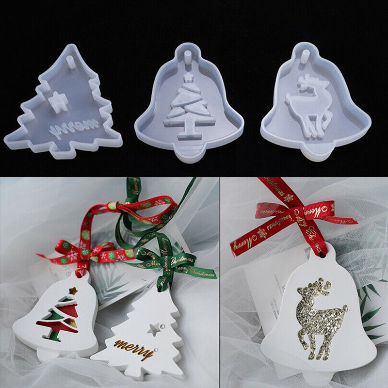 Aromatherapy Wax Silicone Mold Christmas Tree Snowflake DIY Aroma Gypsum Plaster Silicone Mould For Car Pendant DIY Clay Crafts