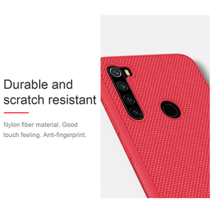Image 4 - Прочная нескользящая тонкая и легкая задняя крышка NILLKIN для Xiaomi Redmi Note 8 Pro, текстурированное нейлоновое волокно