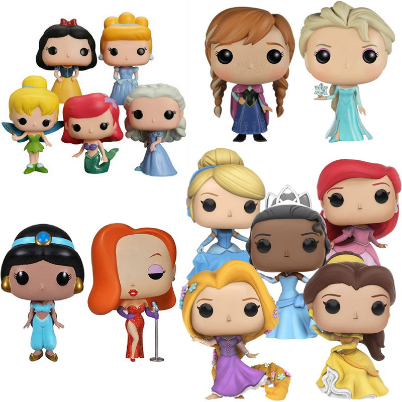Funko Pop Princess Snow White Elsa Bell Alice Jessica Rabbit Action Figures PVC Model Collection Gift Toys For Girl Christmas