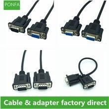 VGA HDTV HD 15pin erkek dişi dişi dişi kablo yüksek kalite 15 çekirdek bağlantı siyah ultra kısa vga kablosu 0.3 m/30 cm