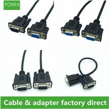 VGA HDTV HD 15pin męski na męski na żeński na żeński kabel wysokiej jakości 15 połączeniowy czarny ultra krótki kabel VGA 0.3 m/30 cm