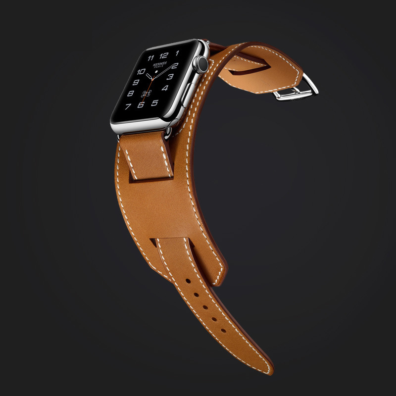 For Apple Watch Bracelet Hollow Out Real Cow Leather Watch Strap APPLE Watch Band Hermes Iwatch4