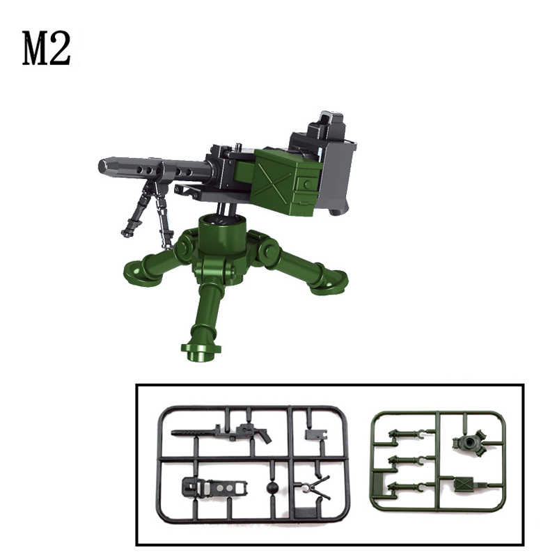 ทหาร SWAT อาวุธสร้างบล็อกปืนแพ็ค City ตำรวจทหาร Builder Series WW2 Army อุปกรณ์เสริม MOC ของเล่นอิฐ