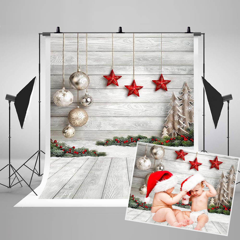 Christmas Backdrop for Portrait Photography Winter Decoration Photo Booth Background for Photographic Print