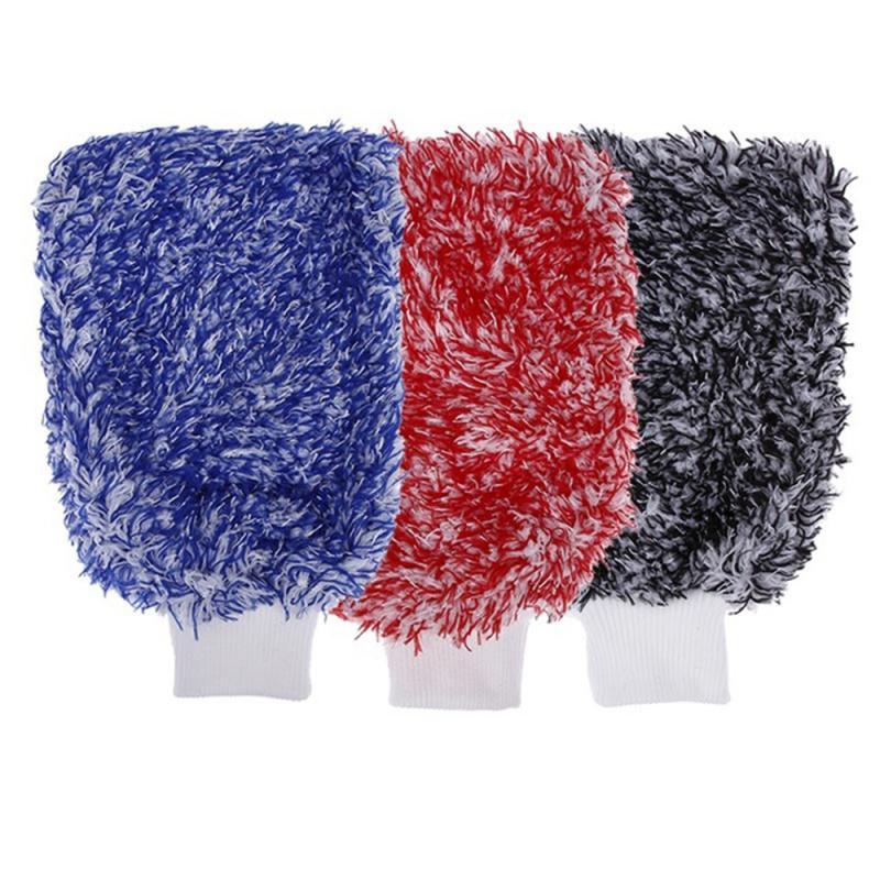 Мягкая перчатка для мытья автомобиля, микрофибра, плюшевая перчатка для мытья перчаток, аксессуары для автомобиля