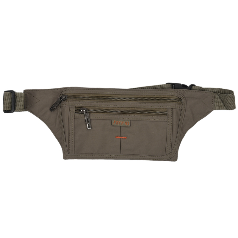 ABZC-Polyester Belt Pouch And With A Zipper Military Green Unisex Sport