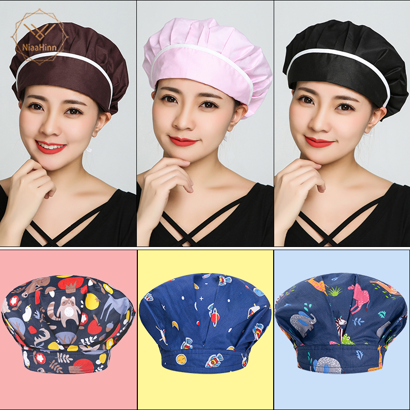 Chef Hats Hotel Kitchen Restaurant Adjustable Chef Uniform Caps High Quality Waiters Hats Men Women Breathable Workshop Dust Cap