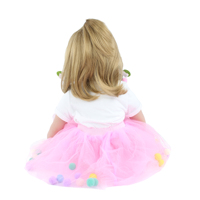 Reborn Babies Doll Toys For Girl Pink Dress Blonde Princess Toddler