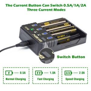 Image 2 - BASEN 18650 Battery Charger for 1.2V 3.7V 3.2V 18650 26650 21700 18350 AA AAA lithium NiMH battery smart charger 5V 2A plug