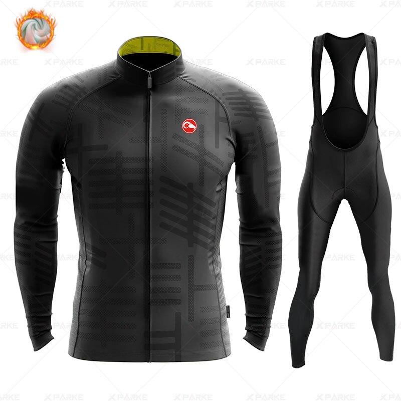 2020 hiver polaire Pro cyclisme Jersey ensemble Mountian vélo vêtements vêtements Ropa Ciclismo course vélo vêtements cyclisme ensemble