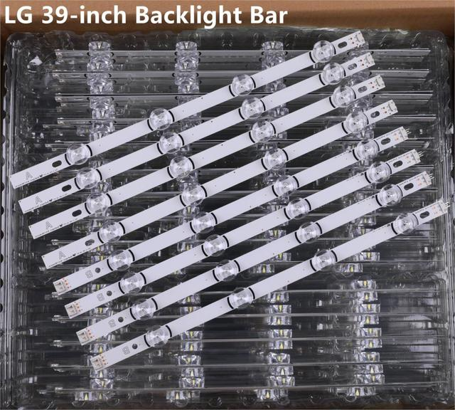 """8 個の x LED バックライトストリップ LG テレビ 390HVJ01 lnnotek drt 3.0 39 """"39LB5610 39LB561V 39LB5800 39LB561F DRT3.0 39LB5700 39LB650V"""