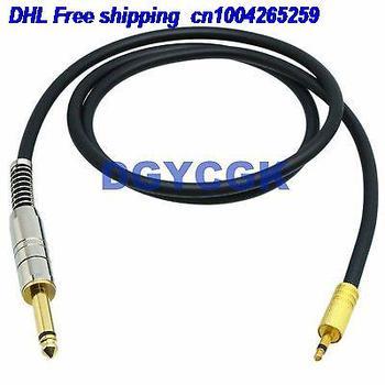 EMS/DHL 10 шт. 3,5 мм 6,35 мм 1/4 RCA разъем моно TS 25FT кабель адаптер аудио AV наушники MIC кабель 22j