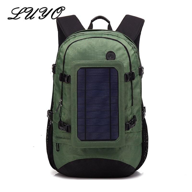 2019 New Solar Back Pack Energy Usb Charger Outdoors Travel Backpack Men Male Panel Mochila Masculina Rugzak Rucksack Hiking