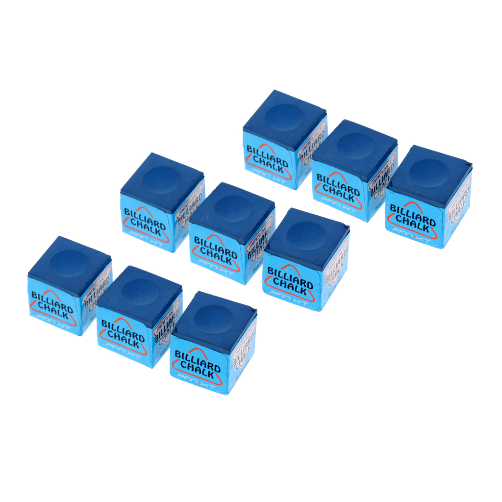 9pcs Billiard Chalks Premium Quality Pool Cue Chalk Cubes