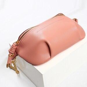 Image 4 - YIZHONG Luxury chest bag Women Bags Designer Fashion Genuine Leather Brand Crossbody Waist Bags for Women Chain messenger bag