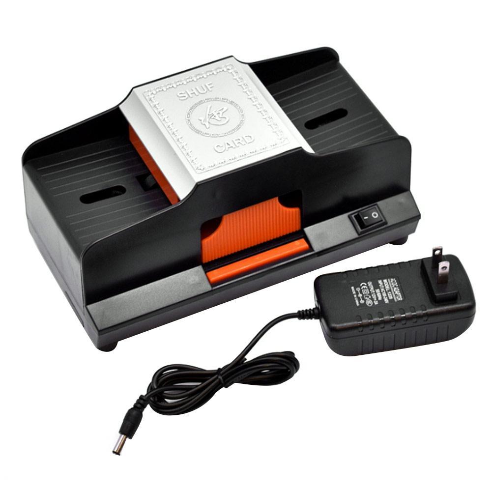 Shuffler de cartão profissional 1-2 decks de alta velocidade automático plástico embaralhamento máquina de jogar jogos de cartas shuffler jogo acessório