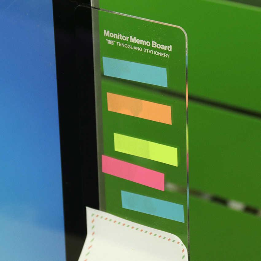 1PC プラスチックモニターメッセージメモ付箋タブ電話コンピュータ Pc 用 Bordes ボルド掲示板プラスチックモニター