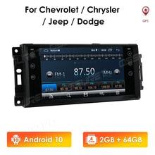 2 + 64 2din Android10 Auto GPS für Jeep Cherokee 2009 2008 2010 Wrangler auto stereo für Dodge radio für chrysler 4G WIFI CarPlay BT