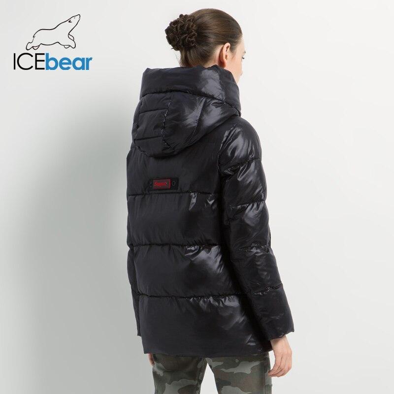 Новинка 2019, зимняя женская куртка, высокое качество, пальто с капюшоном, женские модные куртки, зимняя теплая Женская одежда, повседневные парки - 4