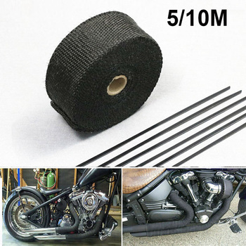 Motorcycle Exhaust Thermal Tape Heat Shield Cover For HONDA SH 125 CB 900 HORNET CBR 650F CBF 600 FORZA 300 2019 CBR 125R image