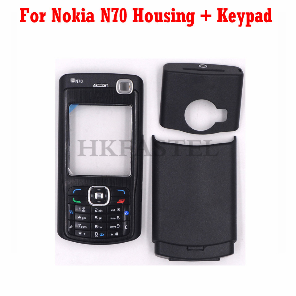 For Nokia N70 Mobile Phone New Front Face Housing With Back Battery Door Cover + English Keypad