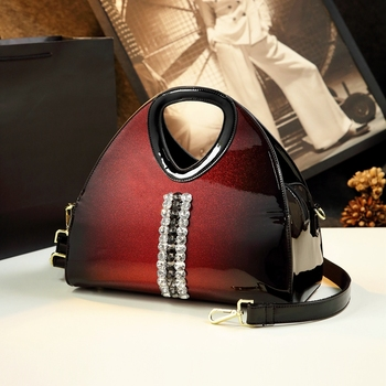 Raaqy Diamond Leather Shoulder Bag