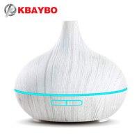2019 novo 300 ml branco de controle remoto ultra sônica madeira grão umidificador aromaterapia aroma difusor do óleo essencial para casa bebe|Umidificadores| |  -