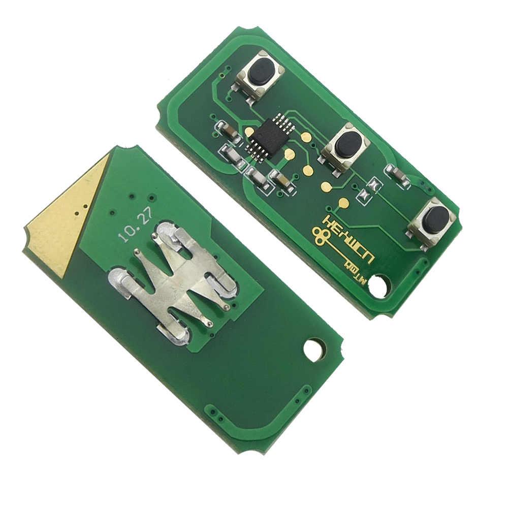 OkeyTech 3 أزرار 433Mhz 4D60/4D63 رقاقة تعديل الوجه للطي مفتاح السيارة عن بعد لفورد فوكس 2 3 مونديو فييستا قطع FO21 شفرة