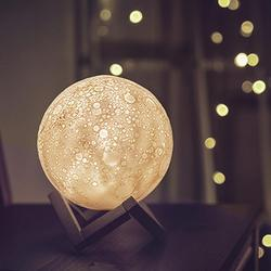 3D Moon Lamp Print Mars Lamp Colorful Moon Lamp Rechargeable Change Flapping  Usb Led Night Light Home Decor Creative Gift