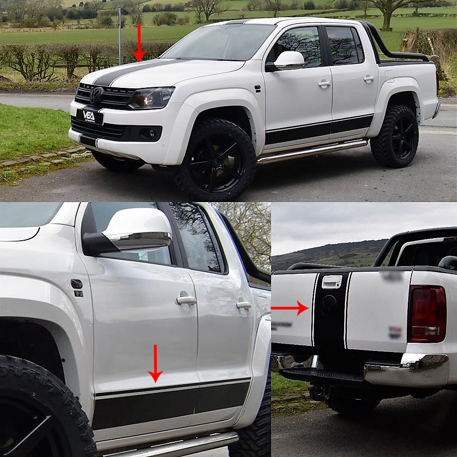 Car Accessories Car Exterior Car Hood Side Door And Tail Door Handle Insert Graphic Vinyl Car Sticker For AMAROK  2015-2018