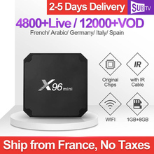 France IPTV X96mini SUBTV IP TV Code Italian Subscription S905W Android Box Portuguese French Dutch Canada Turkey