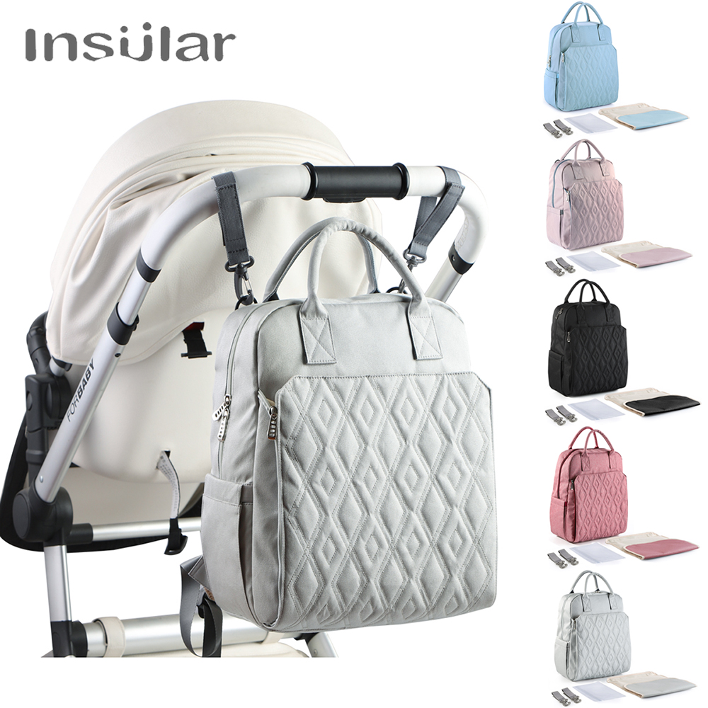 New Large Capacity Diaper Bags Mummy Nappy Bag Stroller Bag Mommy Multi-function Waterproof Travel Backpack Baby Bags