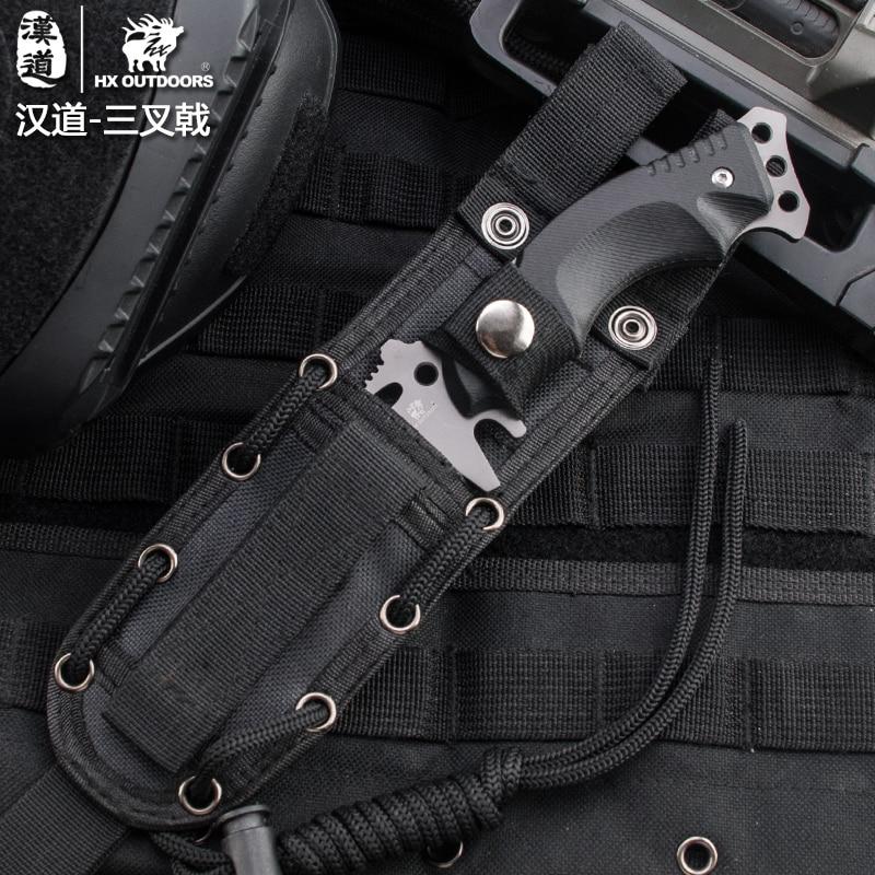 HX OUTDOORS Outdoor Portable Tactical Army Survival Gear cuchillo k10 - Herramientas manuales - foto 5