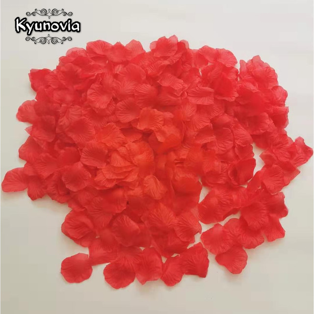 Kyunovia one by one Separated Petals 500pcs Rose Petals Petalos De Rosa Wedding Decoration Artificial Fabric Wedding Rose Petals 3