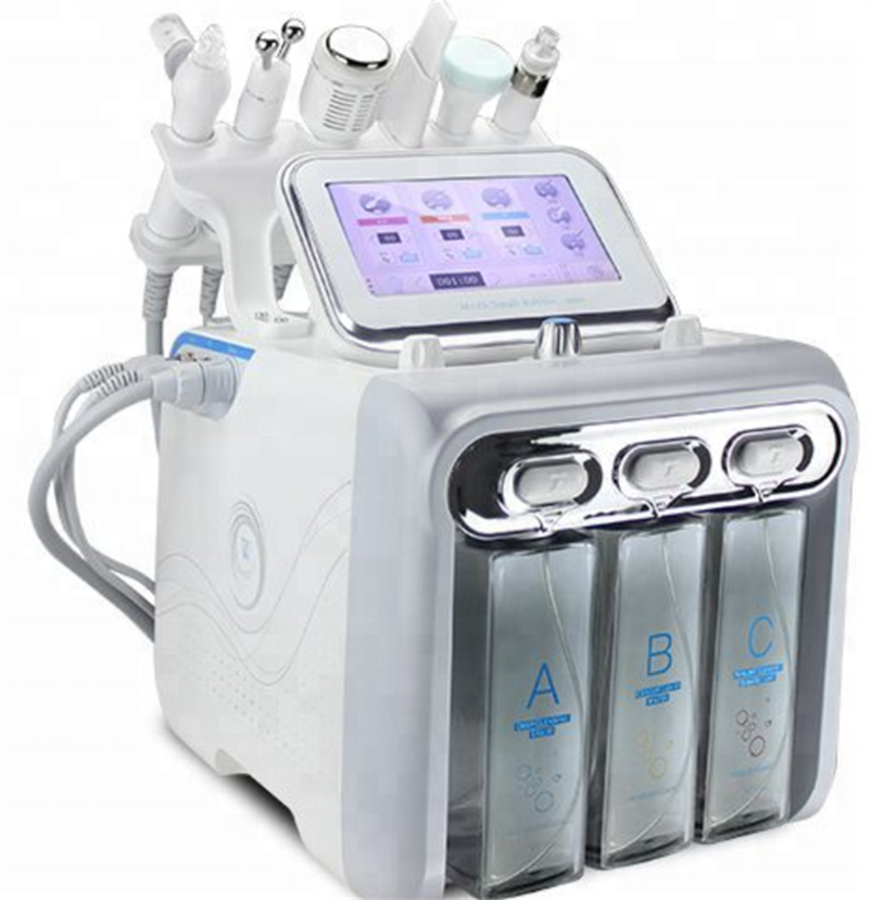 6 In 1 Portable Hydro Dermabrasion Skin Care Beauty Machine Water Oxygen Jet Hydro Diamond Peeling Microdermabrasion