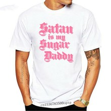 Men t-shirt Satan Is A Sugar Daddy Funny Witchy Thot Slutty Satanic Goth Tee tshirt Women t shirt