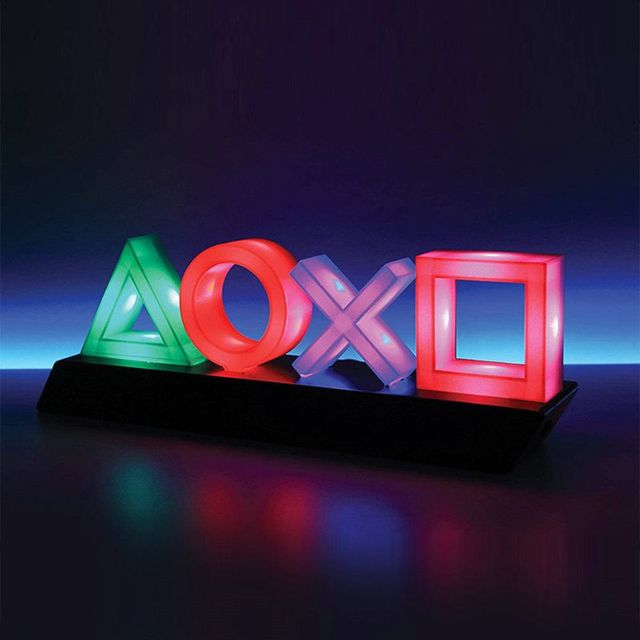 Playstation Sign Voice Control Game Icon Light Acrylic Atmosphere Neon With USB Cable For KTV Bar Living Room Bedroom Decoration 1