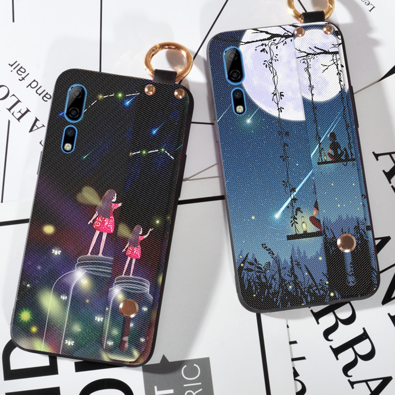 Wrist Lanyard TPU <font><b>Cases</b></font> For ZTE Axon 10 Pro <font><b>Nubia</b></font> A6 M2 Lite N2 N3 <font><b>Z17</b></font> Z18 <font><b>Mini</b></font> S Pretty Girl Holder Shell Back Cover image
