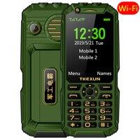 WCDMA 3G mobile phone 3.0 touch screen Power Bank Wifi Push button Dual SIM Dual Flashlight loud Speaker cellphone russian key