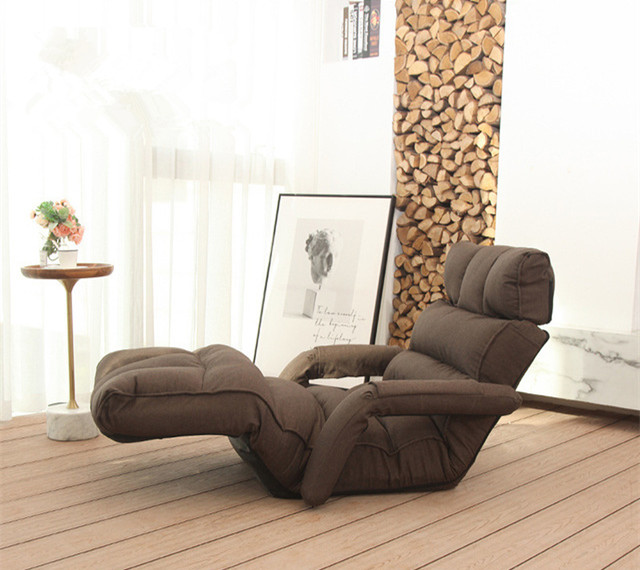 Modern Floor Folding Sofa Chair Adjustable Recliner Living Room Furniture Japanese Style Daybed Sleeper Armchair Chaise Lounge