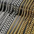 Ожерелье Modyle мужское круглое из кубинской цепи Майами, подарочное колье из нержавеющей стали цвета золото и серебро в стиле панк