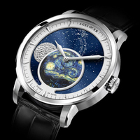2020 New Automatic Moon Phase Watches 40mm Diameters 5ATM Personality abstract oil painting trend Business Wrist watch for Male|Mechanical Watches|   -