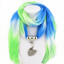 Detonation Peacock with drill alloy pendant scarf, foreign trade Balinese yarn ladys scarf