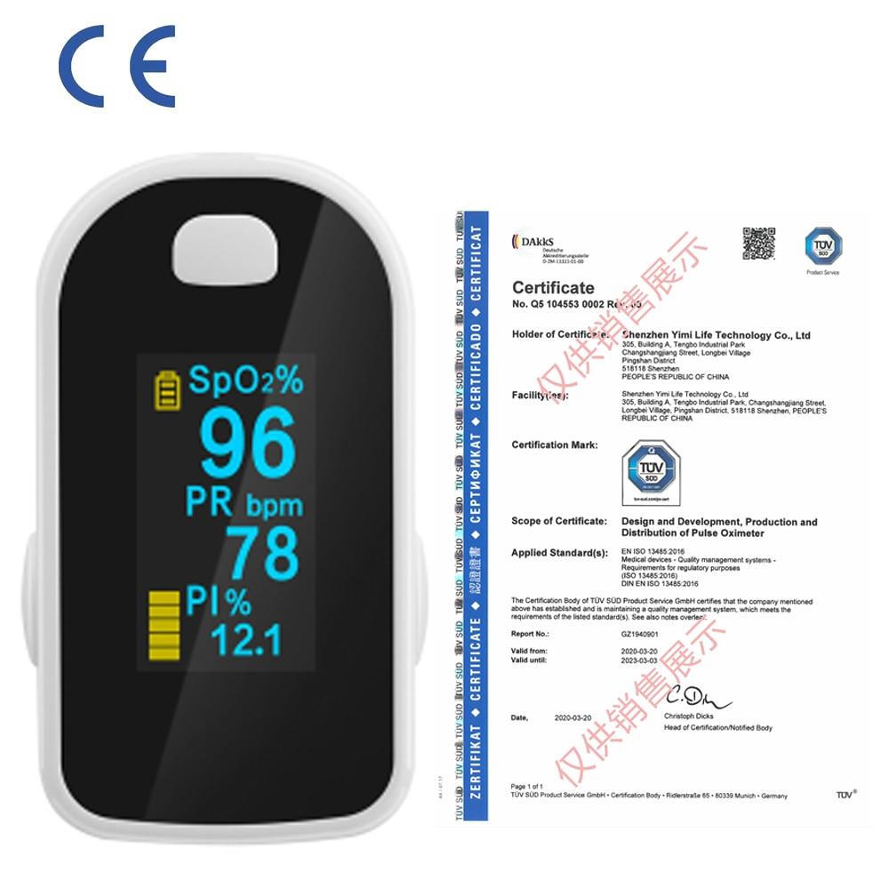 Fingertip Pulse Oximeter Digital Finger Oximeter OLED Pulse Oximeter Display Heart Rate Monitor SPO2 PR Pulsioximetro Fast Ship