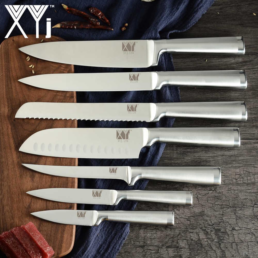 XYj Edelstahl Küchenmesser Set Scharfe Klinge Kochen Koch Messer 8'' Messer Halter Stehen Spitzer Bar Küche Zubehör