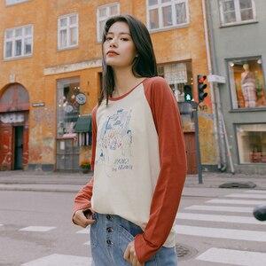 Image 4 - INMAN 2022 primavera nueva llegada literaria algodón Color a juego estampado deporte Grilish ocio Camiseta de manga larga